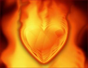 hjerte i brann